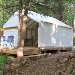 Cedars glamping tent